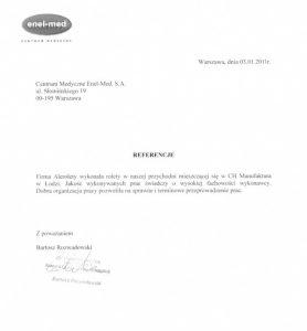 Referencje Enel-Med dla Alerolety
