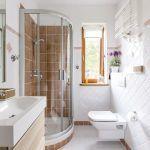 Roleta materiałowa w łazience