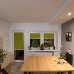 Rolety materiałowe zielone